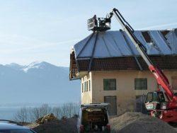Teleskoplader mit Arbeitsbühne