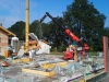Teleskoplader bei Montagearbeiten