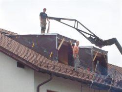 Einbau nachträglicher Dachgaupen