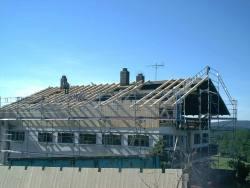 Dachstuhlerneuerung nach Brandschaden