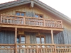 Balkon aus Lärchenholz