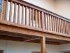 Balkon aus Lärchenholz Detail