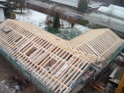 Dachstuhl in Seeglas