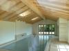 Schwimmbadgebäude in Ständerbauweise