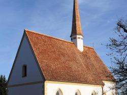 Lärchenschindeln an der Kirche Georgenried