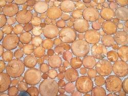 Stirnholzplaster aus Lärchenholz