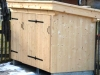 Mülltonnenhäusl aus Fichtenholz